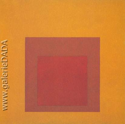Josef Albers,  Study for Homage to the Square Bronzed Fine Art Reproduction Oil Painting