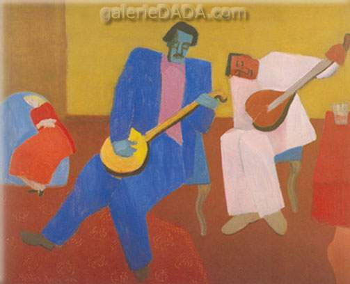 Milton Avery,  Music Makers Fine Art Reproduction Oil Painting