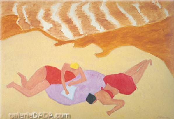 Milton Avery,  Bathers by the Sea Fine Art Reproduction Oil Painting
