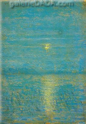 Milton Avery,  Moon over Marsh Fine Art Reproduction Oil Painting