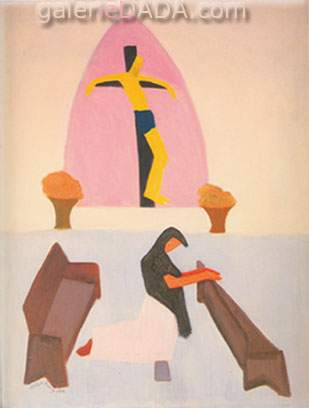 Milton Avery,  Crucifixion Fine Art Reproduction Oil Painting