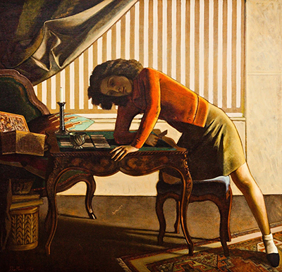 Balthasar Balthus,  Solitaire Fine Art Reproduction Oil Painting