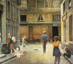 Balthasar Balthus,  The Passage du Commerce St Andre Fine Art Reproduction Oil Painting