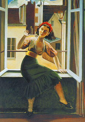 Balthasar Balthus,  The Window Fine Art Reproduction Oil Painting