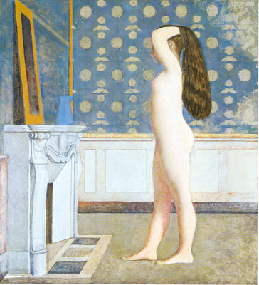 Balthasar Balthus,  Nude before a Mirror Fine Art Reproduction Oil Painting
