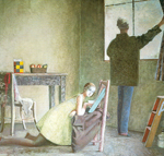 Balthasar Balthus,  The Painter and his Model Fine Art Reproduction Oil Painting