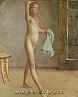 Balthasar Balthus,  Nude with a Silk Scarf Fine Art Reproduction Oil Painting
