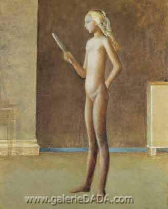 Balthasar Balthus, Nude with a Mirror Fine Art Reproduction Oil Painting