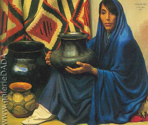 Henry Balink,  Pueblo Pottery Fine Art Reproduction Oil Painting