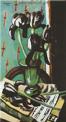 Max Beckmann,  Black Iris Fine Art Reproduction Oil Painting