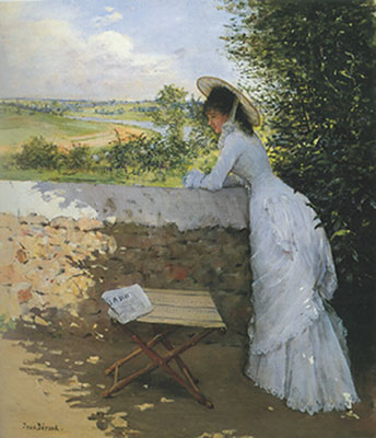 Jean Beraud,  Daydream with Figaro Fine Art Reproduction Oil Painting