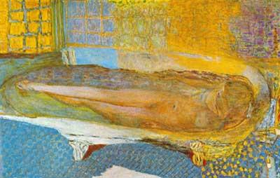 Pierre Bonnard,  Nude in a Bath Fine Art Reproduction Oil Painting