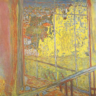 Pierre Bonnard,  The Studio at Le Cannet with Mimosa Fine Art Reproduction Oil Painting