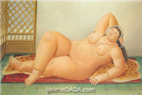 Fernando Botero,  Odalisque Fine Art Reproduction Oil Painting