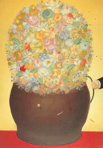 Fernando Botero,  Florero Fine Art Reproduction Oil Painting