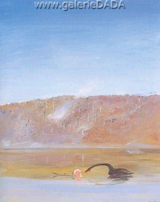 Arthur Merric Boyd,  Rose Fire and Mountain Fine Art Reproduction Oil Painting