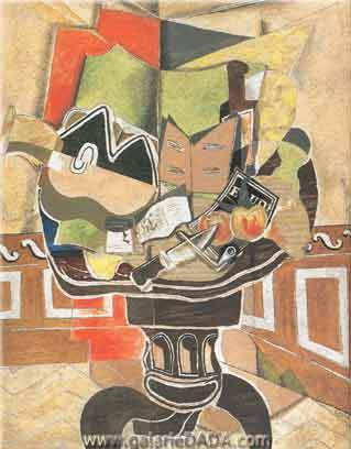 Georges Braque,  The Round Table Fine Art Reproduction Oil Painting