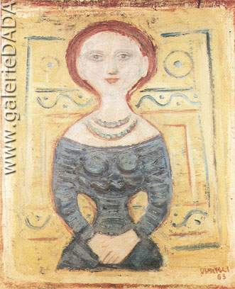 Massimo Campigli,  Figure (2) Fine Art Reproduction Oil Painting