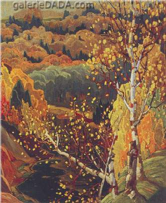 Franklin Carmichael,  October Gold Fine Art Reproduction Oil Painting