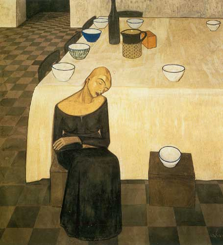 Felice Casorati,  LAttesa Fine Art Reproduction Oil Painting