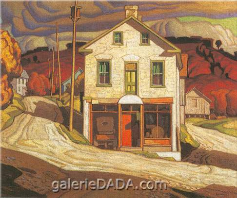 Alfred J. Casson,  Old Store st Salem Fine Art Reproduction Oil Painting