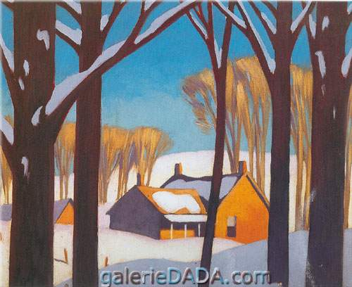 Alfred J. Casson,  Winter House Fine Art Reproduction Oil Painting