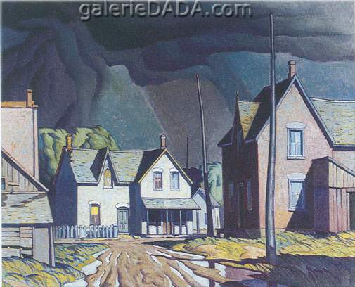Alfred J. Casson,  Thunderstorm Fine Art Reproduction Oil Painting