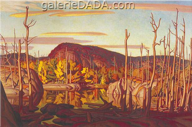 Alfred J. Casson,  Autumn Evening Fine Art Reproduction Oil Painting