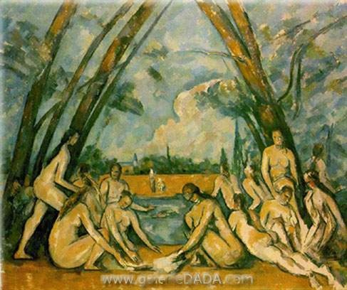 Paul Cezanne,  The Large Bathers Fine Art Reproduction Oil Painting