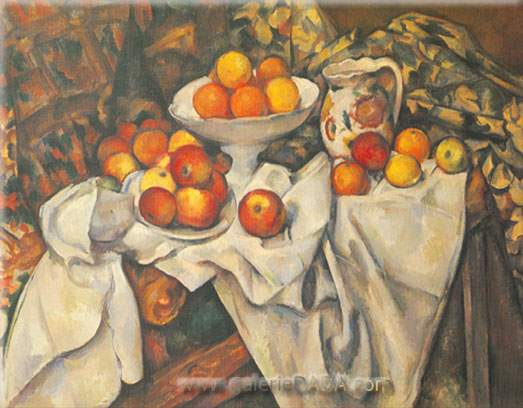 Paul Cezanne,  Still Life with Apples and Oranges Fine Art Reproduction Oil Painting