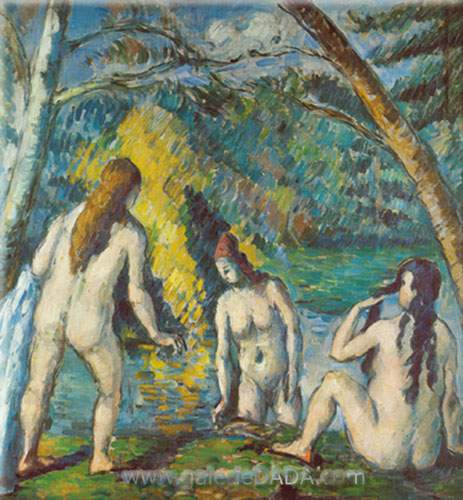 Paul Cezanne,  Three Bathers Fine Art Reproduction Oil Painting