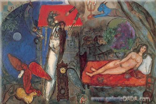 Marc Chagall,  To My Wife Fine Art Reproduction Oil Painting