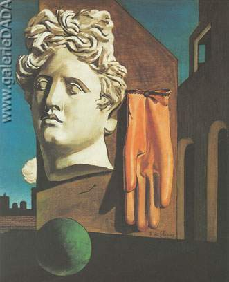 Georgio de Chirico,  The Song of Love Fine Art Reproduction Oil Painting