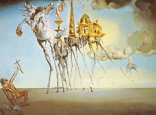 Salvador Dali,  The Temptation of St Anthony Fine Art Reproduction Oil Painting