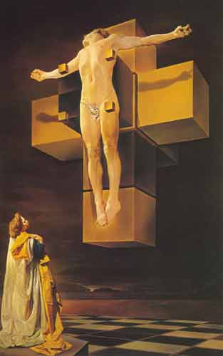 Salvador Dali,  Crucifixion Fine Art Reproduction Oil Painting