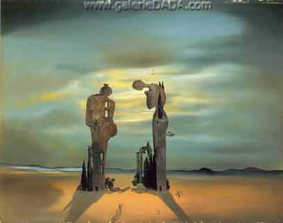 Salvador Dali,  Archaeological Reminiscence of Millets Angelus Fine Art Reproduction Oil Painting