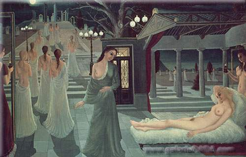 Paul Delvaux,  The Acropolis Fine Art Reproduction Oil Painting