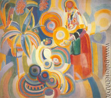 Robert & Sonia Delaunay,  Tall Portuguese Woman Fine Art Reproduction Oil Painting