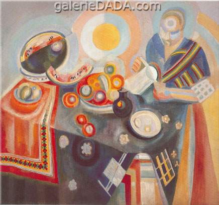 Robert & Sonia Delaunay,  Woman Pouring Fine Art Reproduction Oil Painting