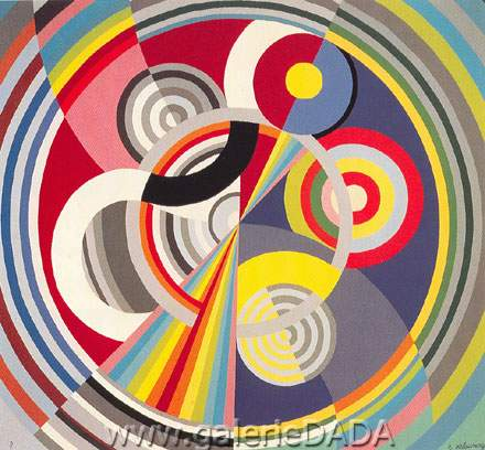 Robert & Sonia Delaunay,  Rhythm No.1 Fine Art Reproduction Oil Painting