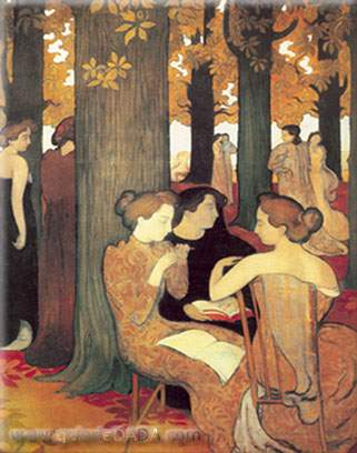 Maurice Denis,  The Muses in the Sacred Wood Fine Art Reproduction Oil Painting