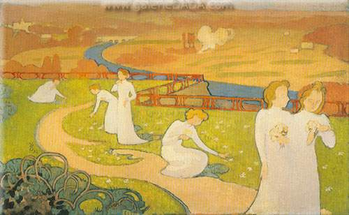 Maurice Denis,  April Fine Art Reproduction Oil Painting