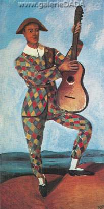 Andre Derain,  Harlequin with Guitar Fine Art Reproduction Oil Painting