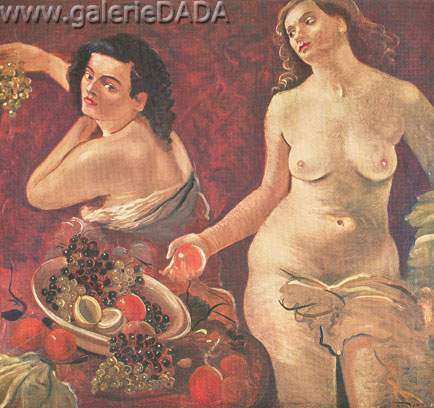 Two Nudes with Fruit