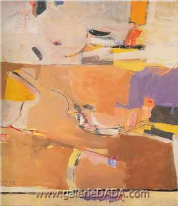 Richard Diebenkorn,  Berkeley No.1 Fine Art Reproduction Oil Painting