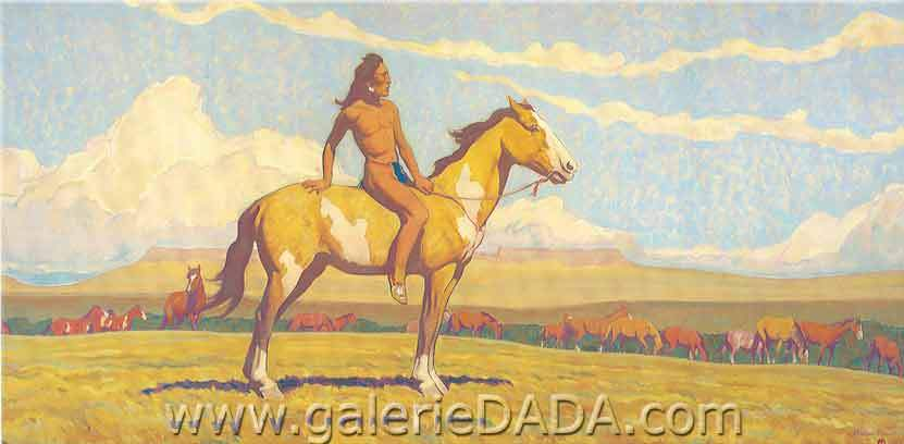 Maynard Dixon,  Pony Boy Fine Art Reproduction Oil Painting