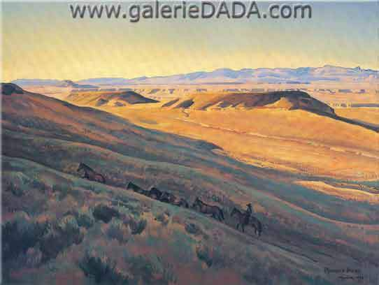 Maynard Dixon,  Wind River Valley Fine Art Reproduction Oil Painting