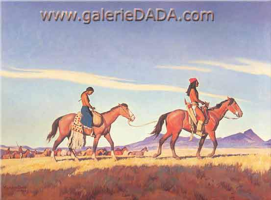 Maynard Dixon,  Apache Plunder Fine Art Reproduction Oil Painting