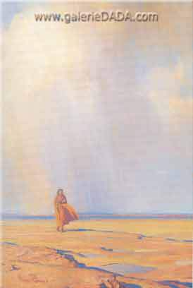 Maynard Dixon,  Desert Shower Fine Art Reproduction Oil Painting