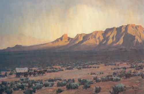 Maynard Dixon,  The Pioneers Fine Art Reproduction Oil Painting